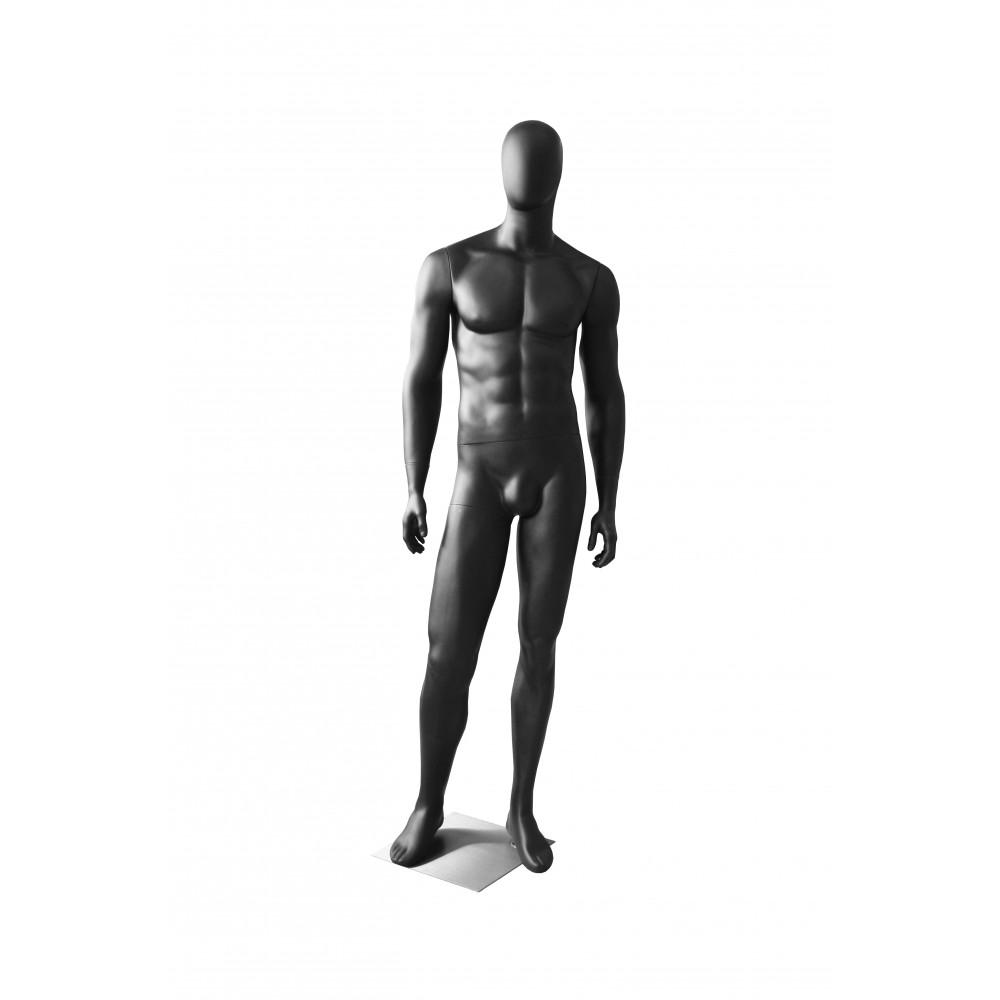 Манекен чоловічий безликий, чорний матовий MMG-2