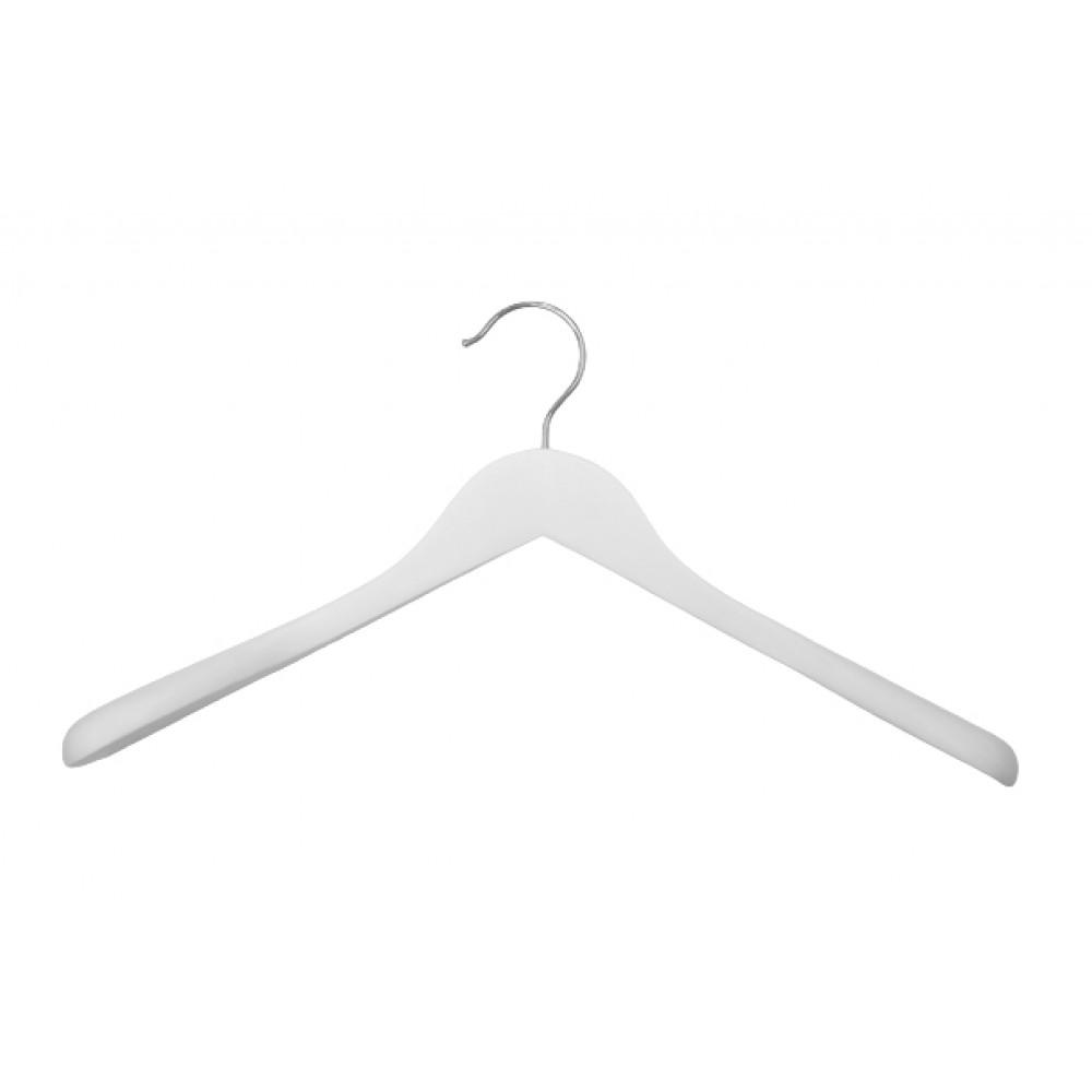 Плечики для одягу білі з широкими плечими, type 2W