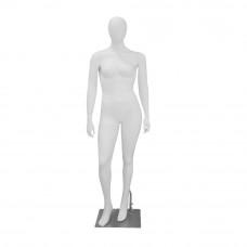 MONIKA-02 Манекен жіночий безликі білий матовий PLUS SIZE