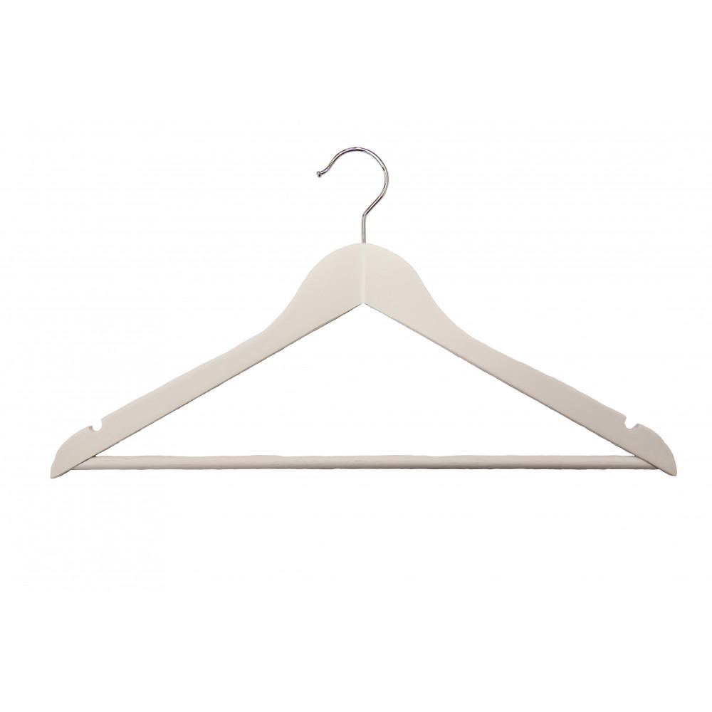 Вішаки для одягу дерев'яні білі Type 1В W
