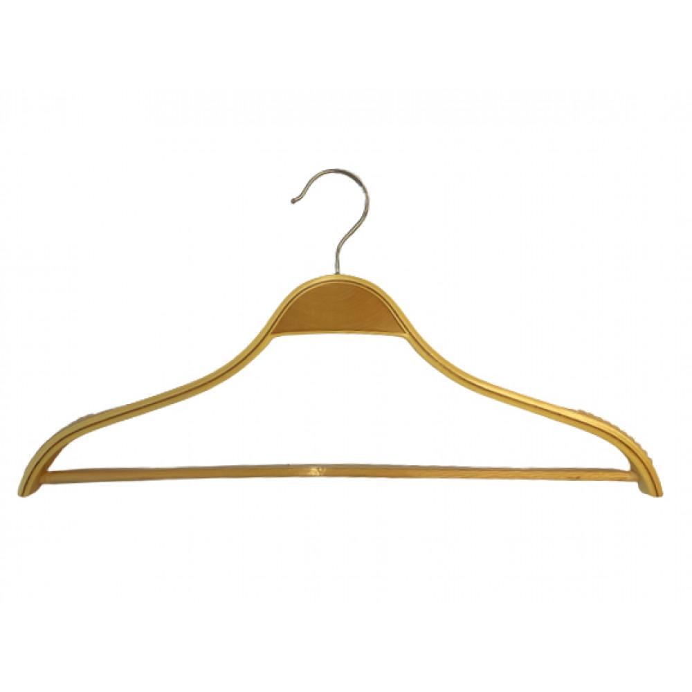 Плічкі для одягу дерев'яні з поперечиною 44см Laminated (17.02)