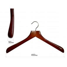 Плічка для одягу type Deluxe (махонь) з широкими плічками без поперечини