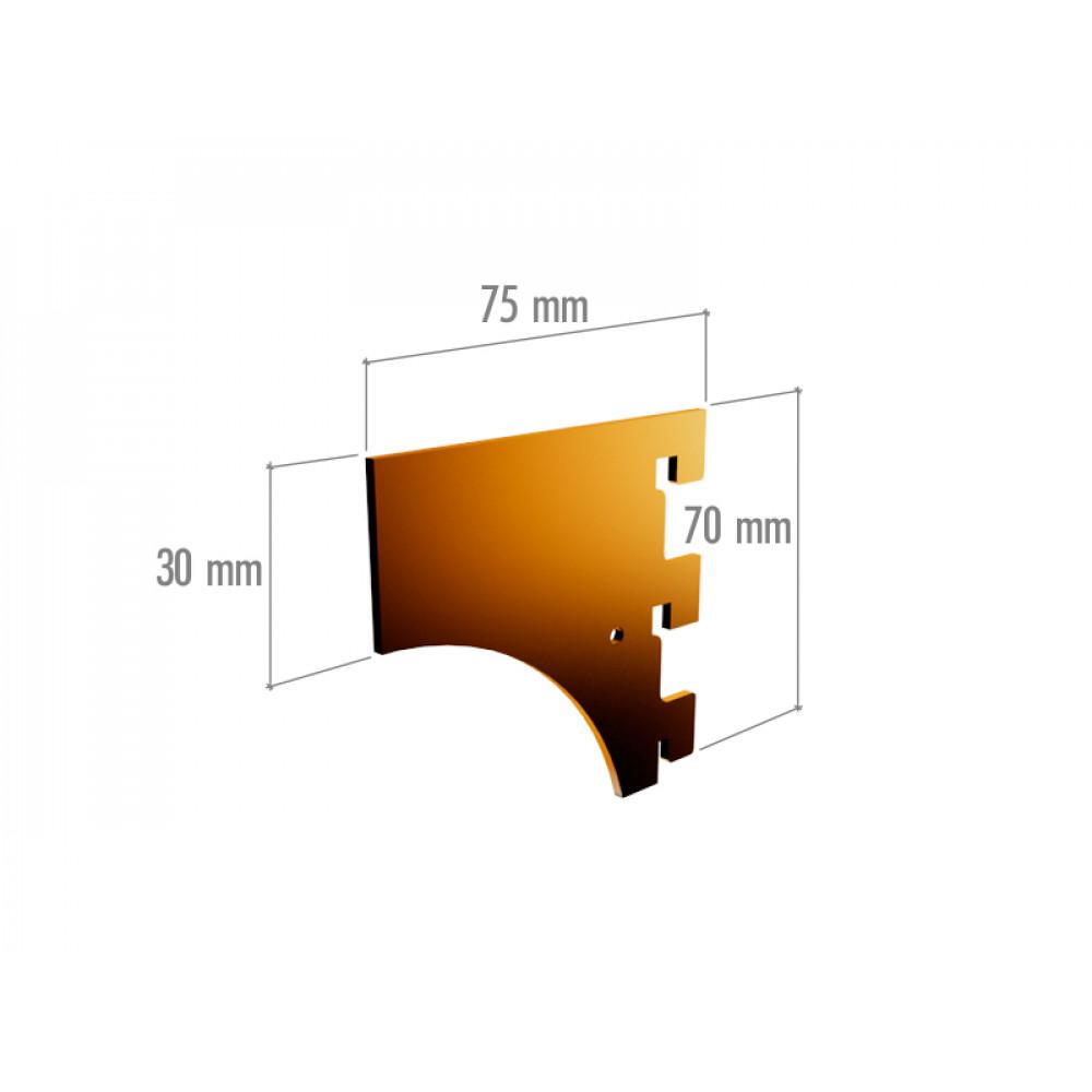 VR 6043 Элемент крепления в профиль цельный, 3 зацепа, неокраш.