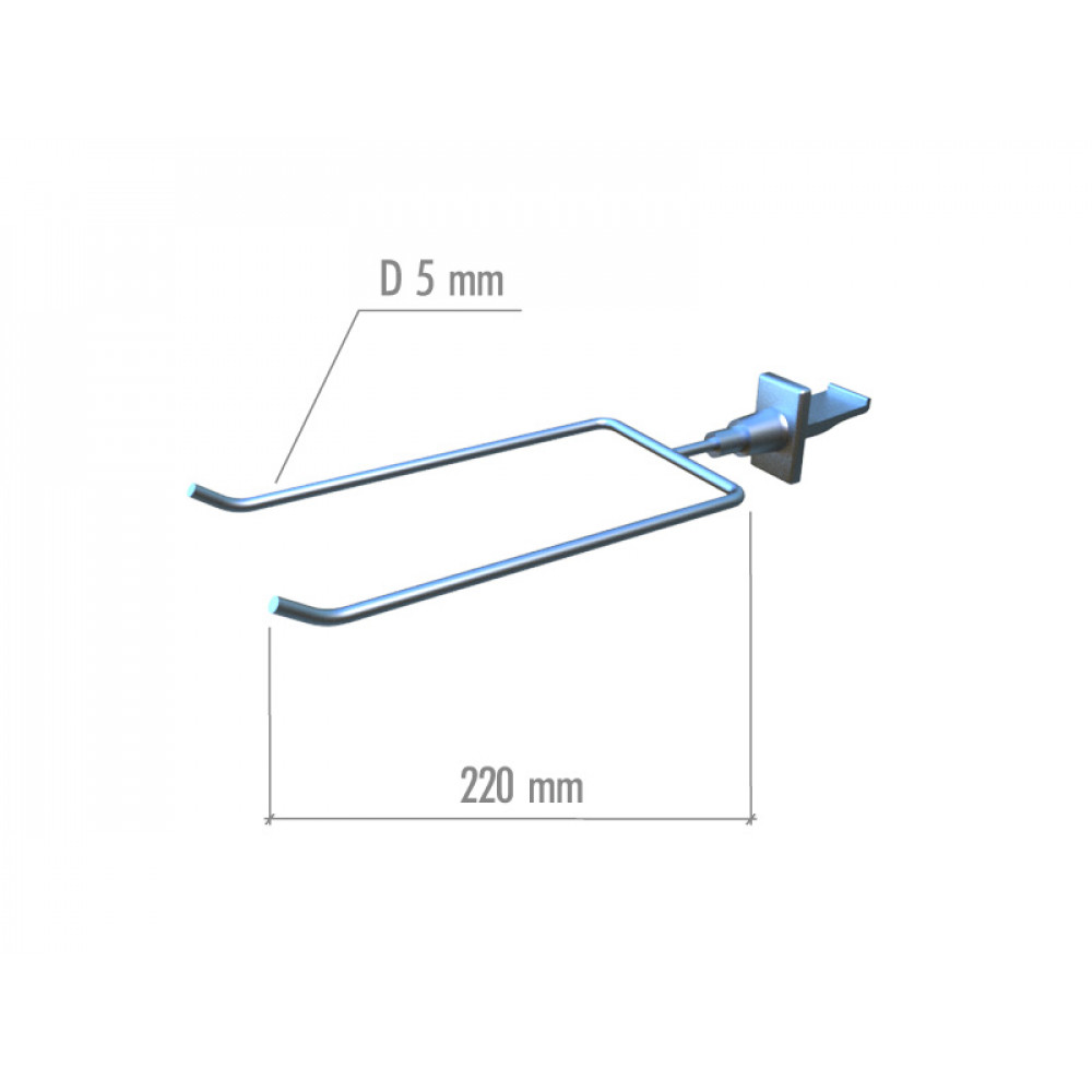 TN 022 Кронштейн с двумя крючками