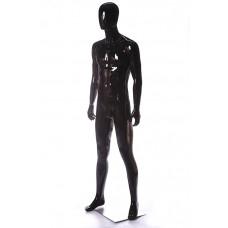 FBME-СН1 Манекен чоловічий безликий чорний глянець
