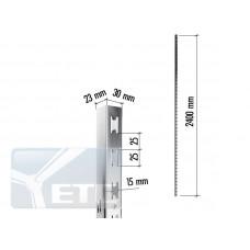 2179 SATIN Профиль П-образный c двойной перфорацией h2400