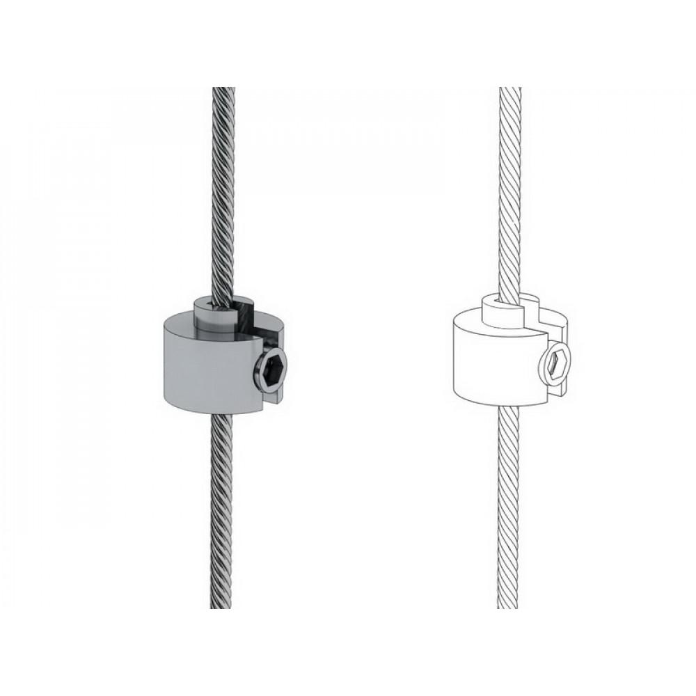 GSS Держатель кабеля на трос вертикальный сатин