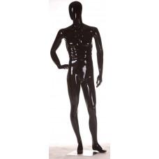 FBME-AL2 Манекен чоловічий безликий чорний глянець