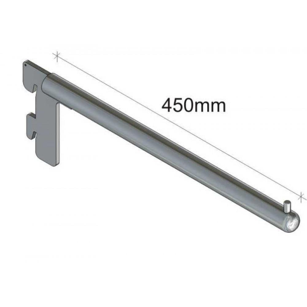 MS0320715 Кронштейн прямой 450мм (хром)