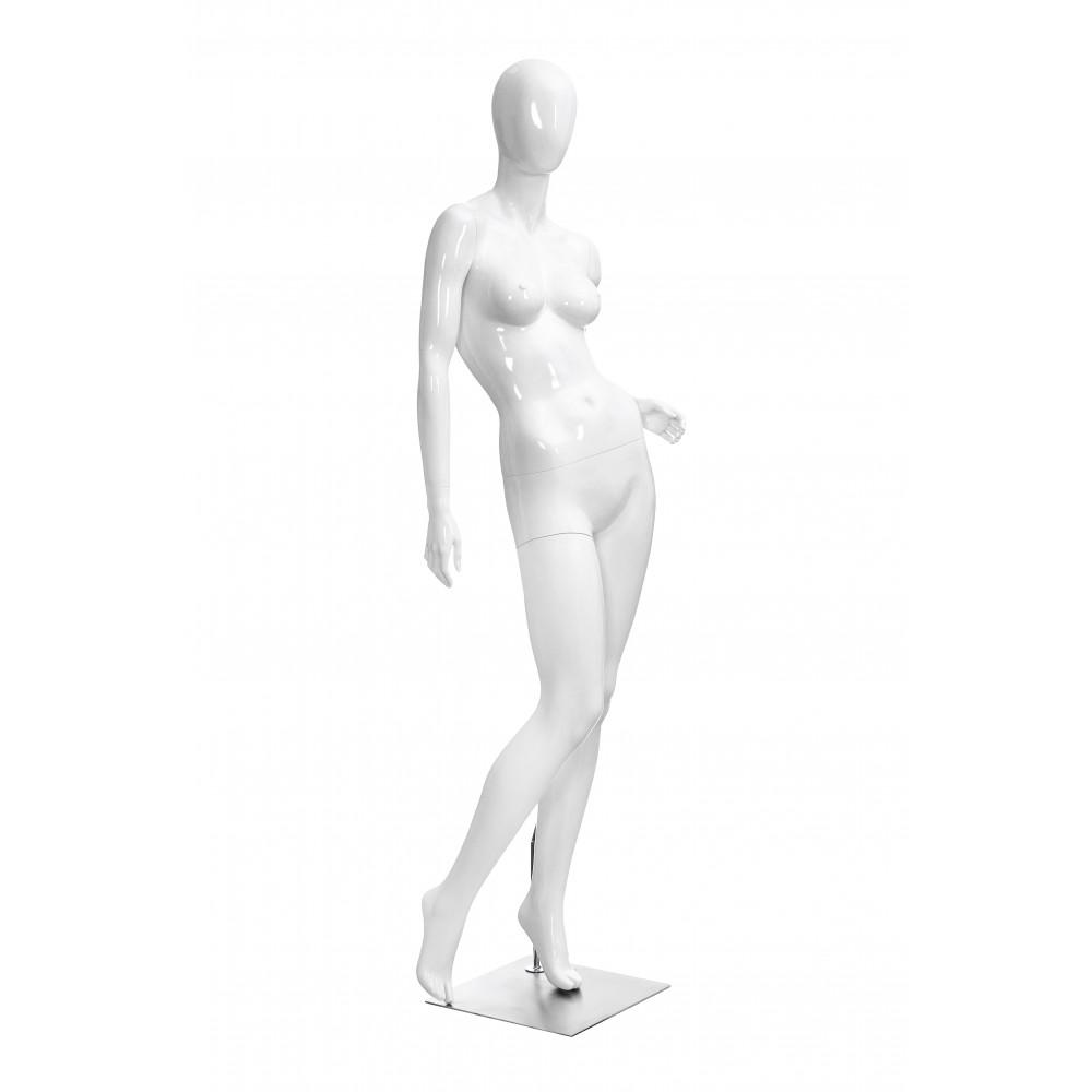 Манекен жіночий білий глянець, безликий, POLLY-4