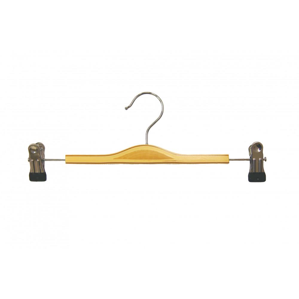 Вішалки для штанів з пріщіпкамі, бук 35 см, Laminated (19.16)