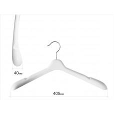 Вішаки для одягу пластикові білі 405мм W-40
