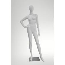 JNV-02 манекен жіночий безликий білий матовий