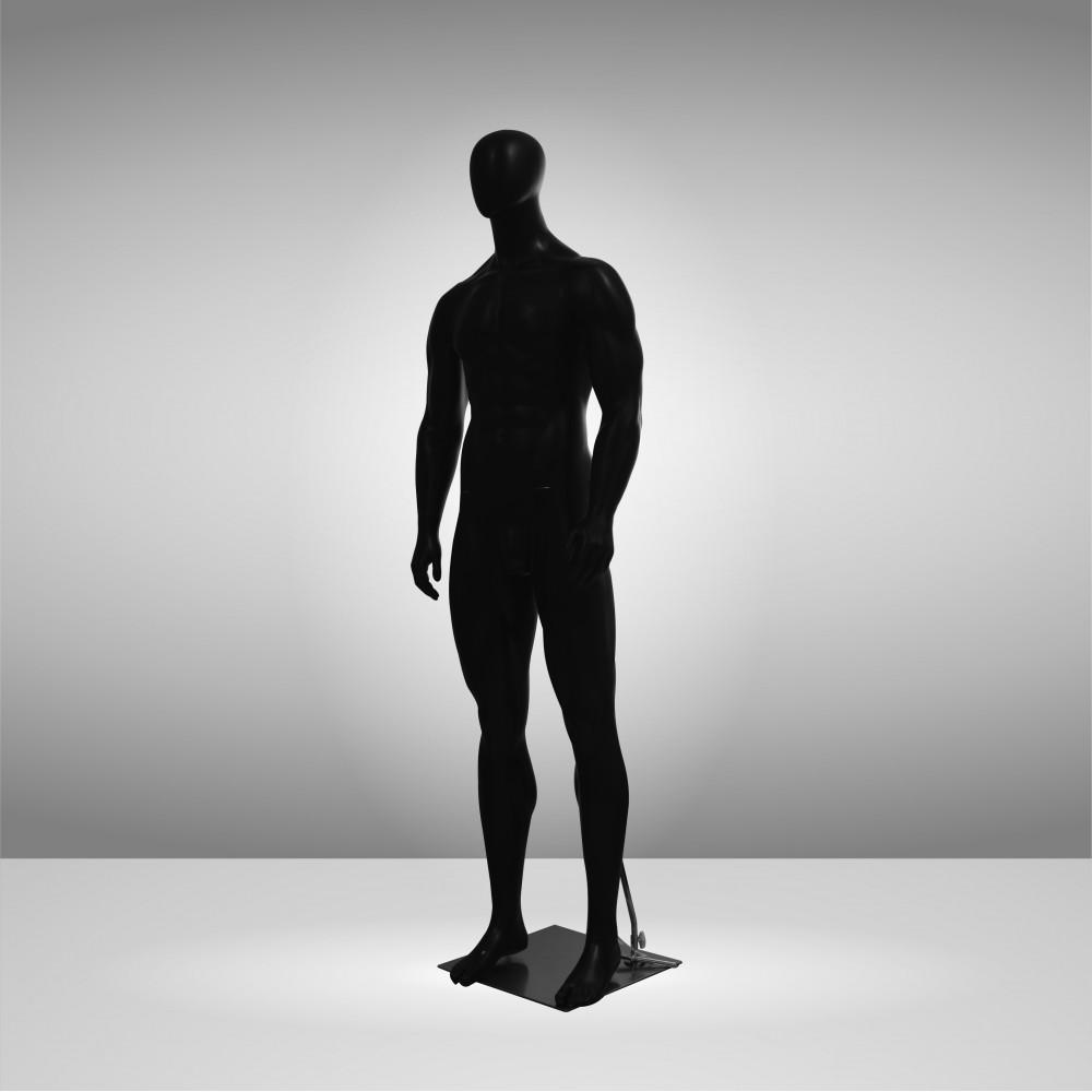 JSM-MAN-2 Манекен мужской чёрний безликий