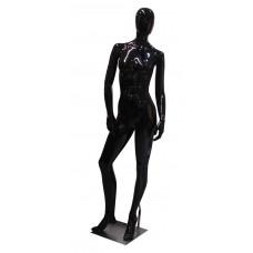 Манекен жіночий, чорний глянець, безликий, FBLA-YE3