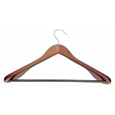 Плечики для одежды type 2ВМ (махонь) с широкими плечиками и перекладиной