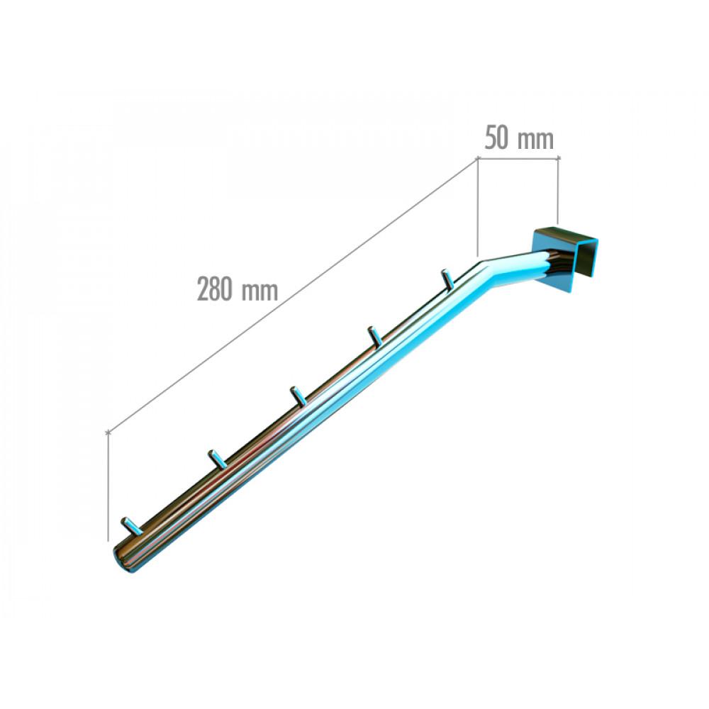 VR-7F2-04 Навесной элемент наклонный с ограничителями ( хром)