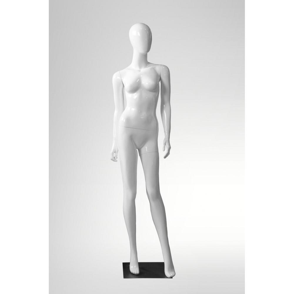 LIZA-2 Манекен женский безликий белый глянец
