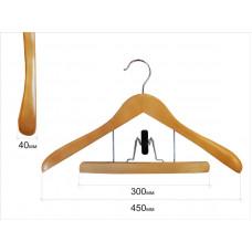 Вішаки для одягу з вішаком для штанів type бук 11В
