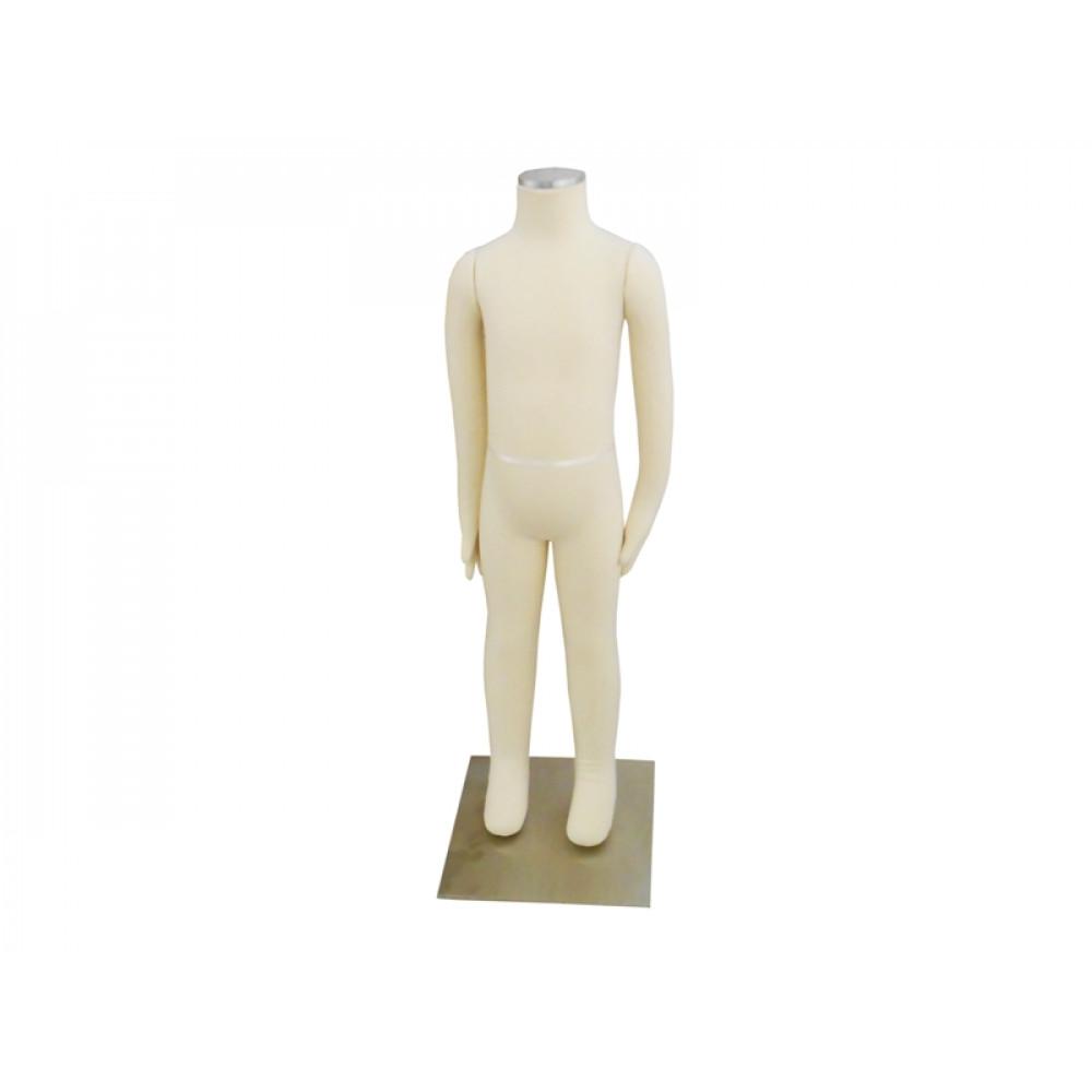Манекен дитячий без голови, обтягнутий тканиною, трансформер, DY-7