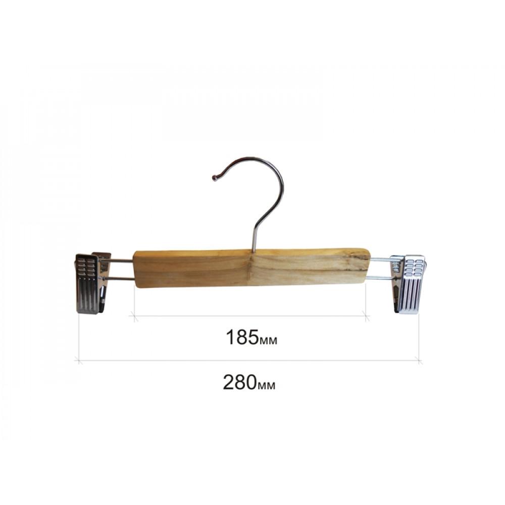 Вішаки для штанів дерев'яні бук 280мм type 5АВF