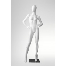 LORA-6 Манекен жіночий безликий, білий глянець