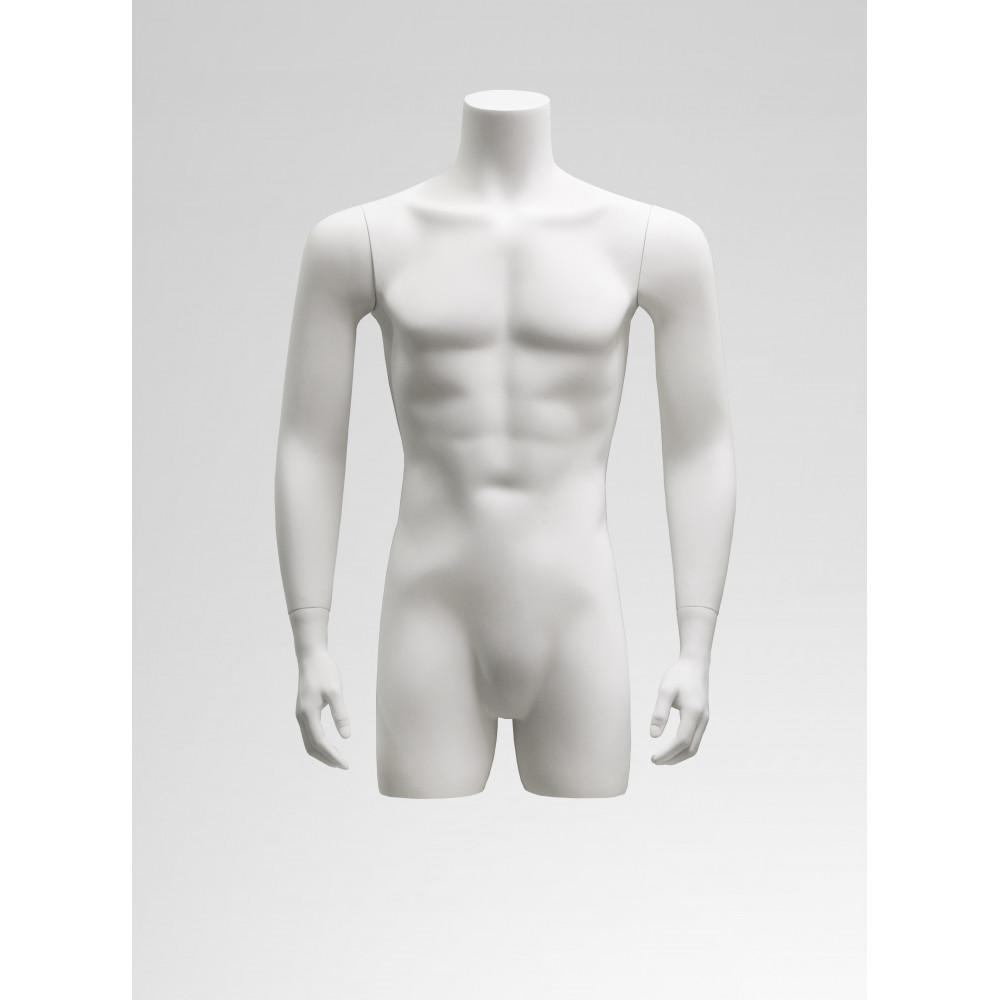 Торс-1 мужской (белый матовый) с руками