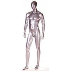 СМ-28М Манекен чоловічий безликий сріблястий глянець