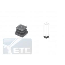 Pr10 (К) Заглушка черная(25*25) с резьбой М10