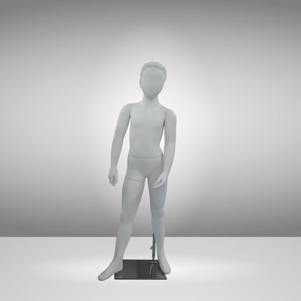 CH-7-11-113 Манекен детский абстрактный белый (мальчик124см)