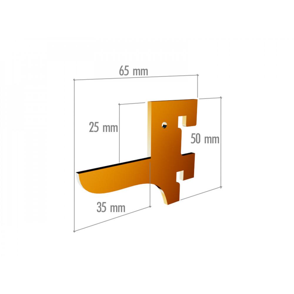 VR 6041 Элемент крепления в профиль прямоугольный, 2 зацепа, неокраш.