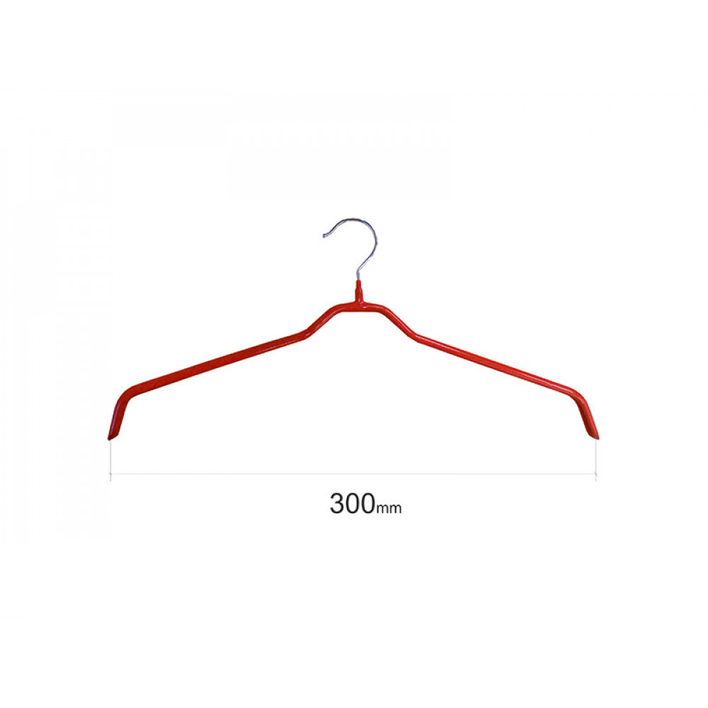 Плечики для одежды type 6 метал. 30см (красная)