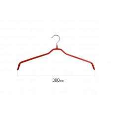 Плічка для одягу type 6 метал. 30см (червона)
