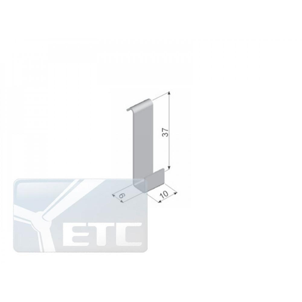 IN1-09/W/6  Стеклодержатель вертикальный  (6мм)
