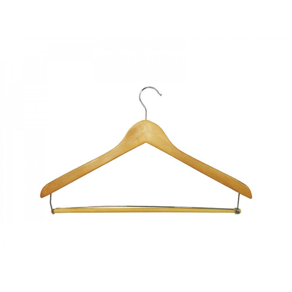 Плечики для одежды type 4AF (бук) (перекладина на желез кроншт)