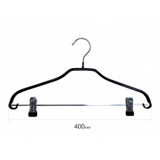 Плечики для одежды type 6ХХ метал. 40см (черная) с прищепками
