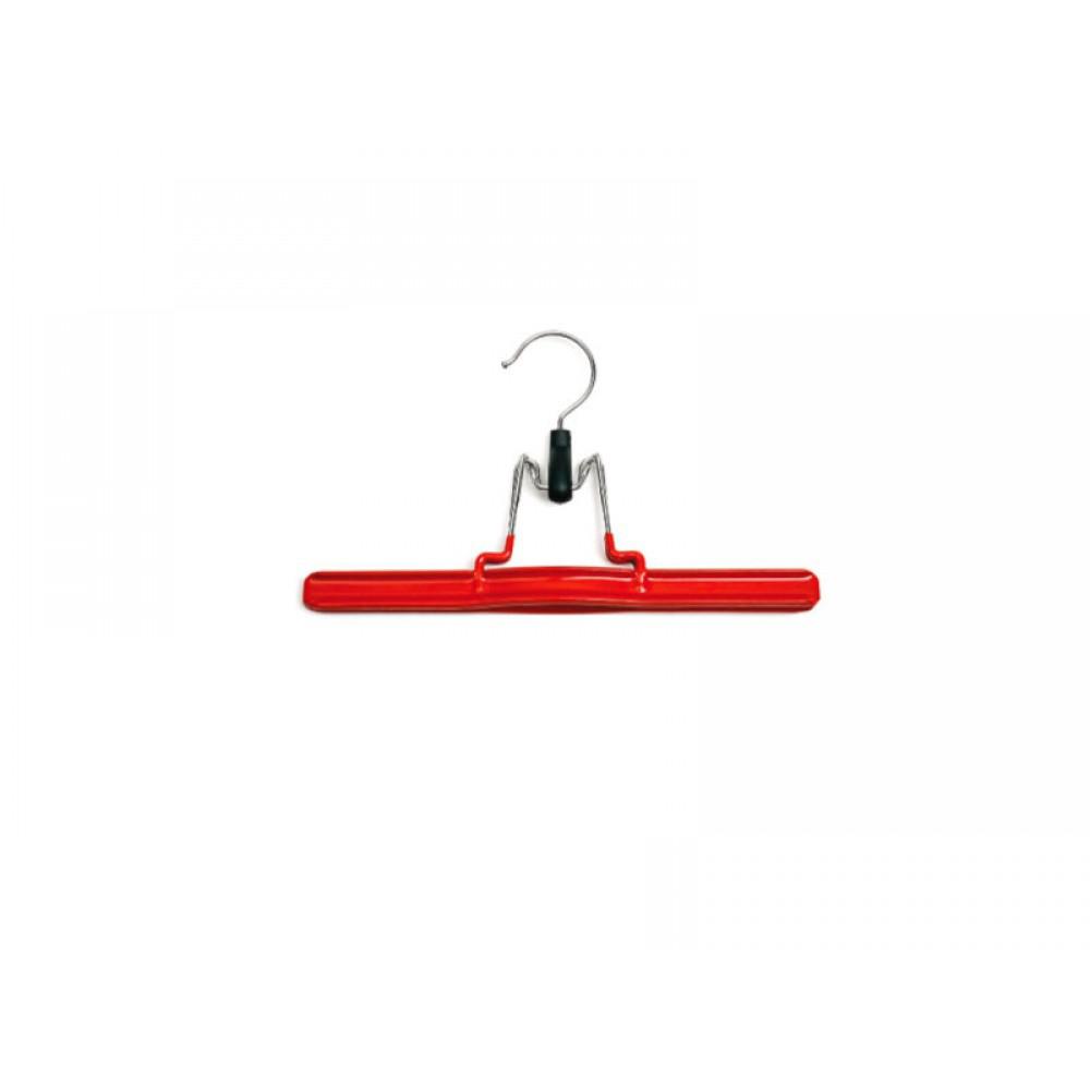 Вешалка для брюк type 05R красная прорезиненная