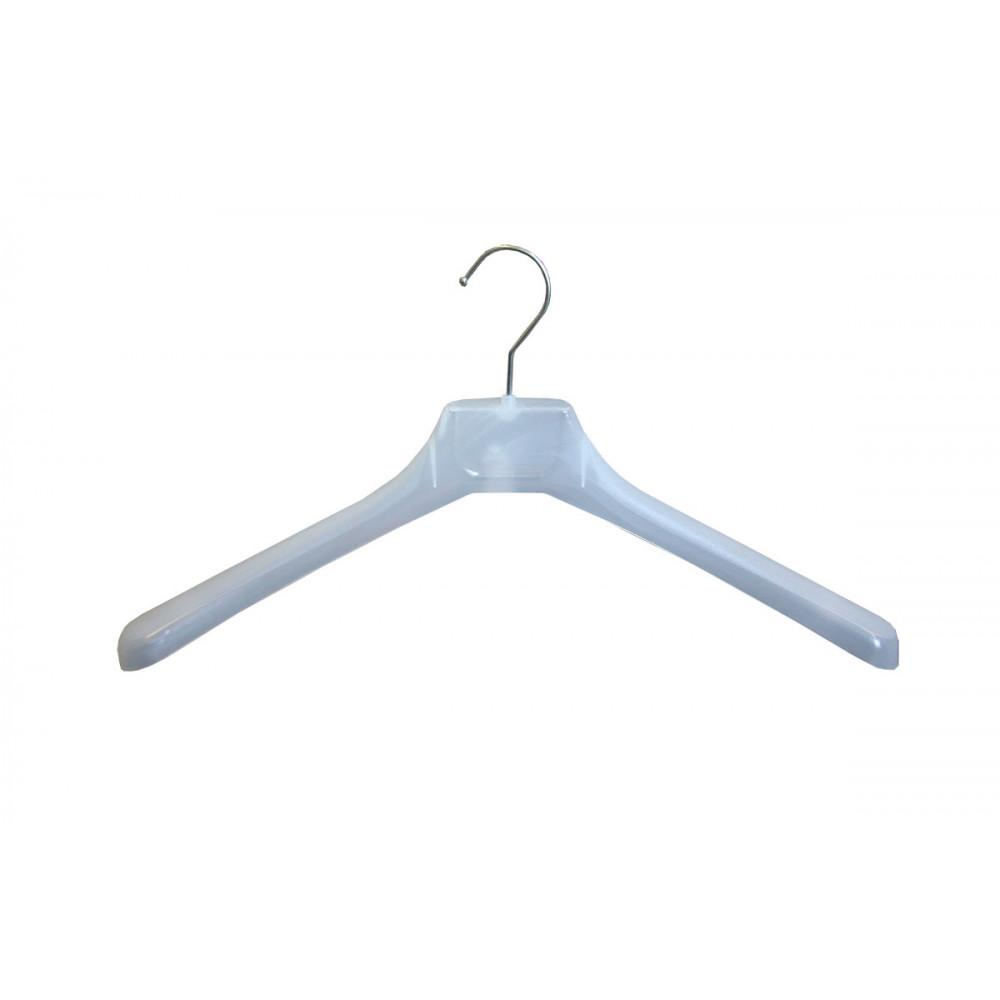 W-45 Плечики для одежды пластиковые 45см (МАТОВЫЕ,прозрачные )