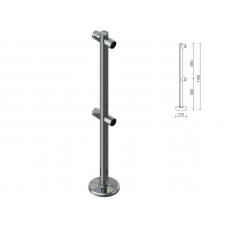 OG0551 Стійка для перегородок з подвійним крепл. для 2-х труб dm40