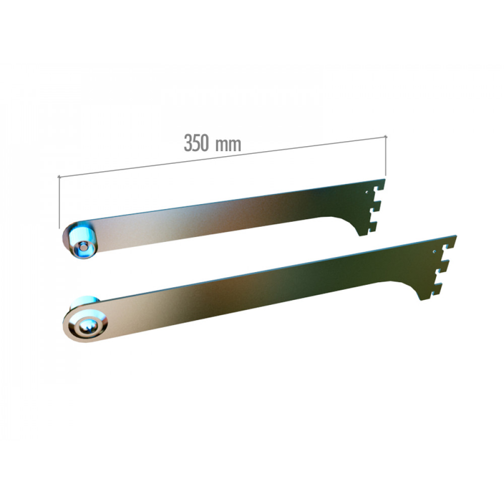 VR 6500 Кронштейны 350мм с заглушкой-держателем для трубы dm25 хром. (пара)