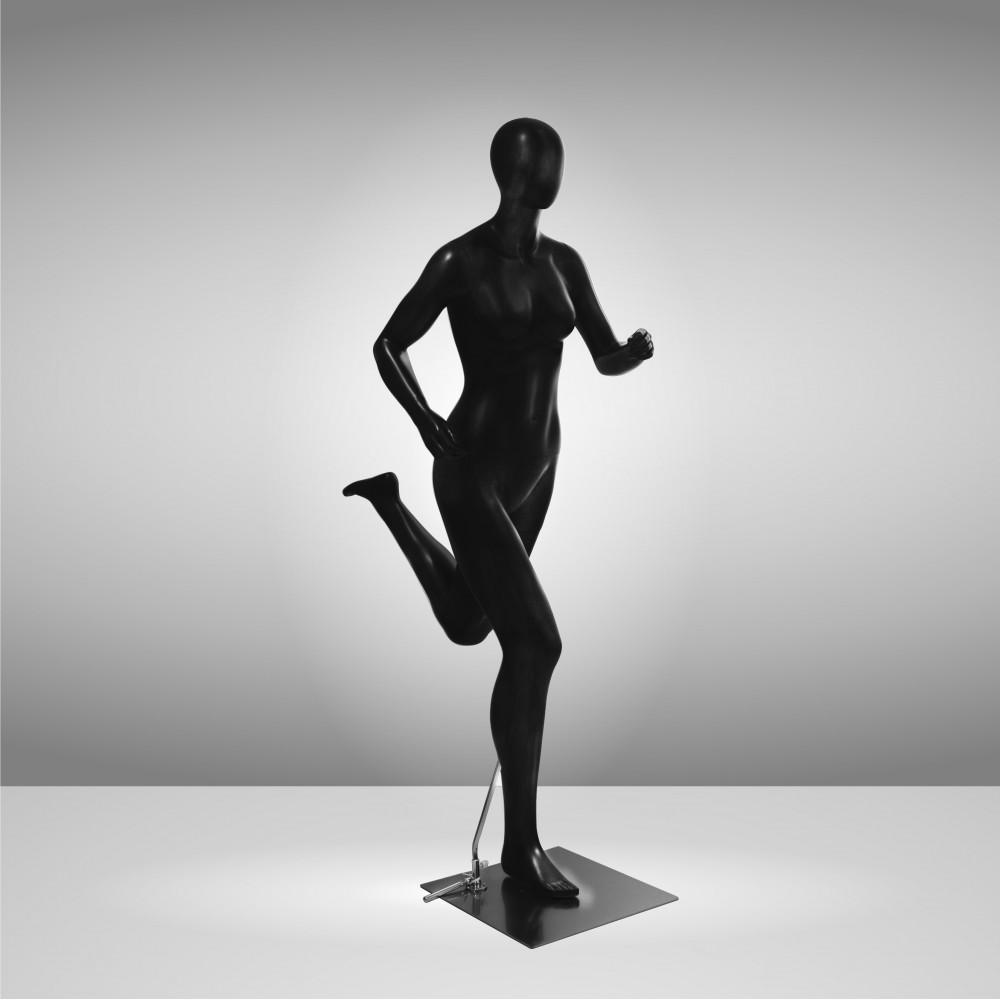 Манекен спортивний жіночий чорний бігун JRF-RUNWOMAN-1