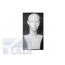 Голова женская белая без макияжа