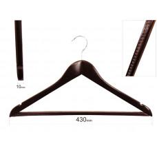 Плічка для одягу type 1ВМ (махонь) з гумовою доріжкою
