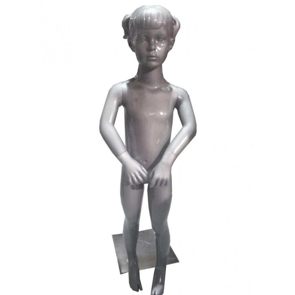 CH-7 Манекен детский серебристый (девочка) RAL 9007