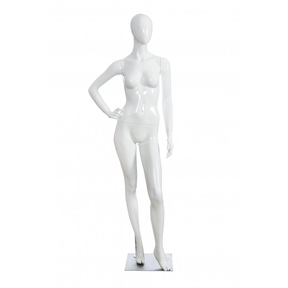 KATE-01 Манекен женский безликий, белый глянец