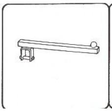 Pr2040 Кронштейн прямой 300мм, для трубы 25*25
