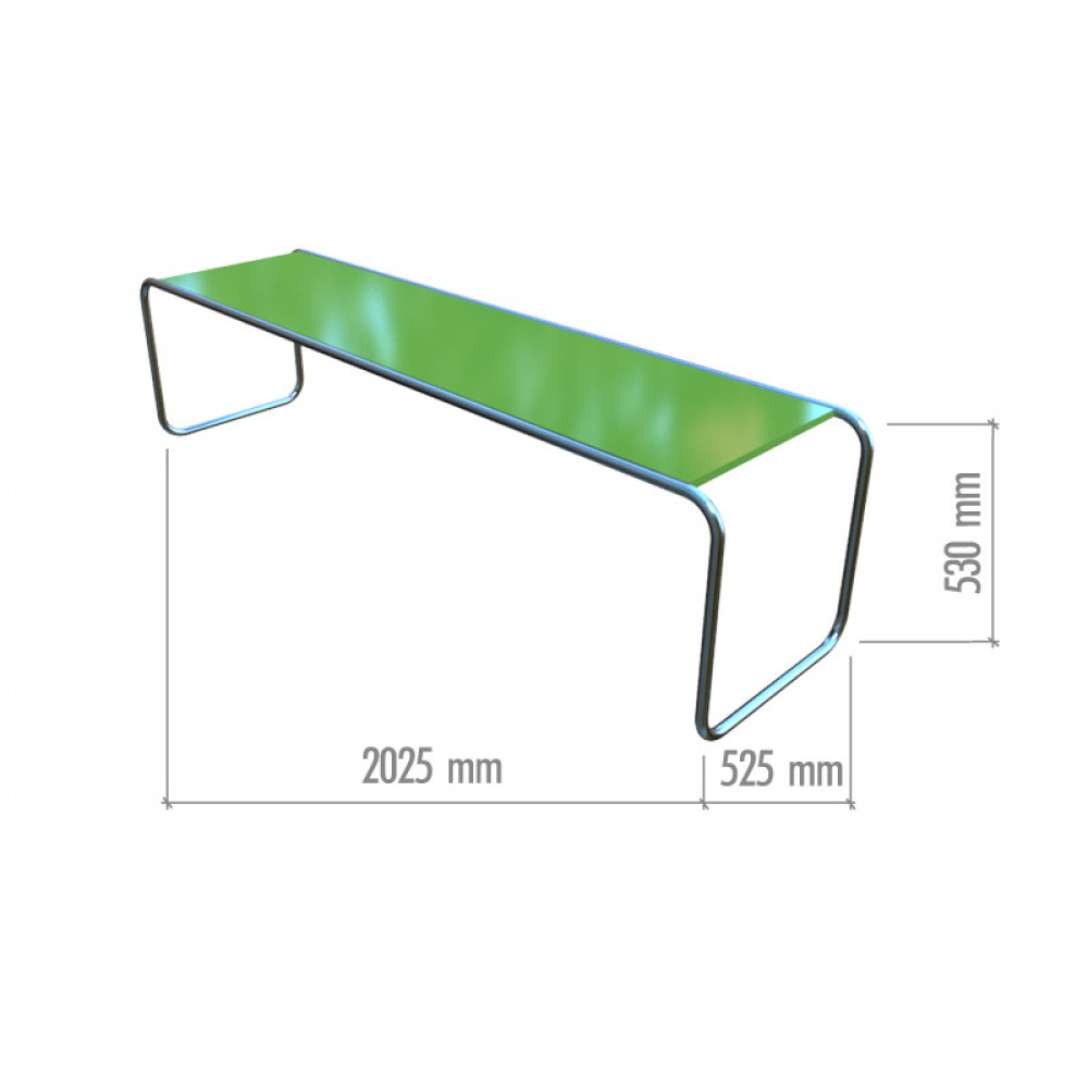 SN501 Витрина из хромированной трубы 2025*525*530h (без заполнения)