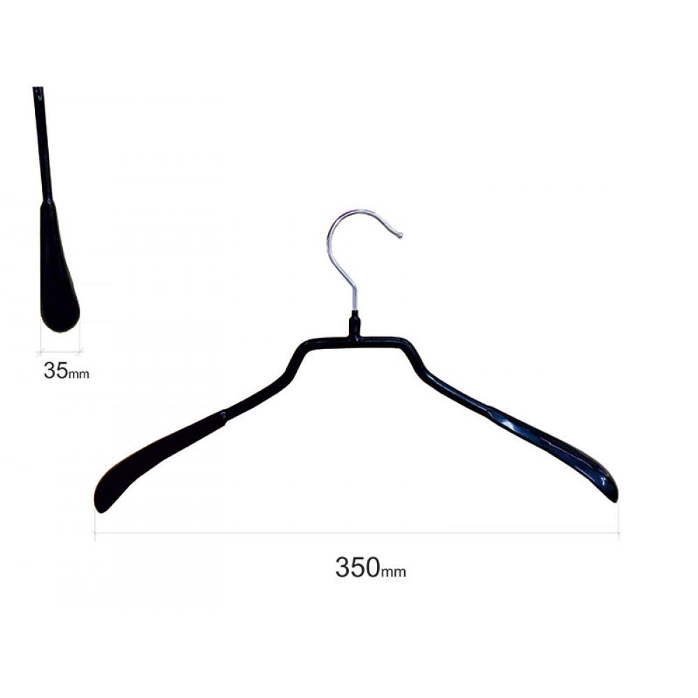Плечики для одежды type 6А метал. 35см (черная)