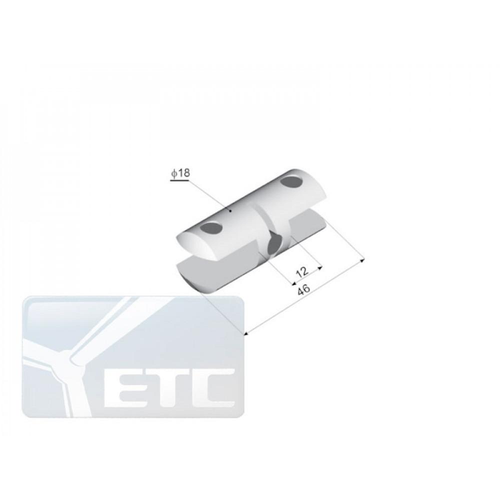 SP2-34 Стеклодержатель двухсторонний канал 9мм