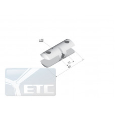 SP2-34 Стеклодержателі двосторонній канал 9мм